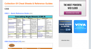 100+ Cheet Sheets for Web Designers and Developers
